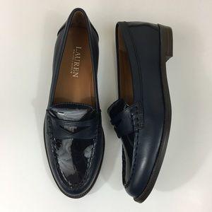 Lauren Ralph Lauren Navy Dark Blue Loafers Sz 6B